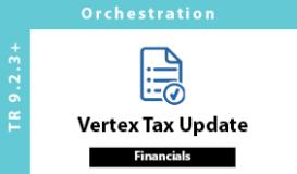 Vertex Tax Update