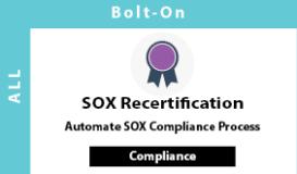 SOX Recertification